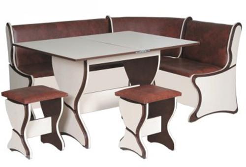 Кухонный уголок Аргентина с прямоугольным столом и двумя табуретами