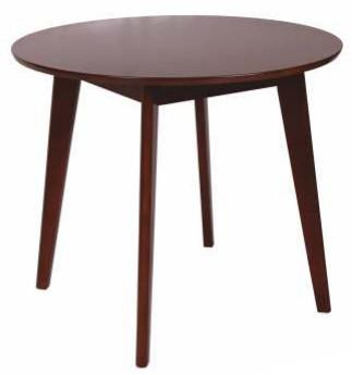 Стол обеденный круглый Модерн. Столешница из МДФ с натуральным шпоном, каркас - бук