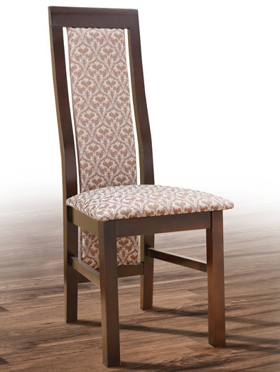 Стул деревянный Катрин орех темный с мягким сиденьем и спинкой
