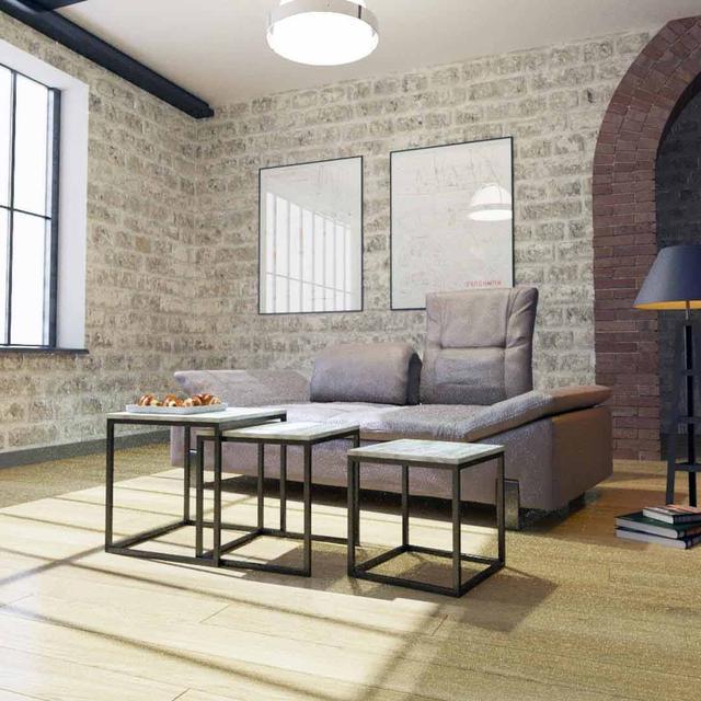 Стол журнальный Кубо состоит из трех столов разных размеров