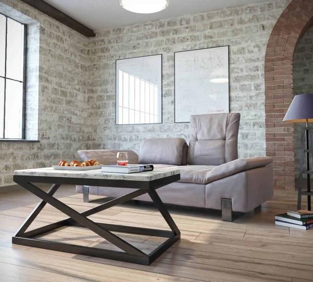 Стол журнальный Лонг Бент серии Лофт от ТМ Металл-дизайн