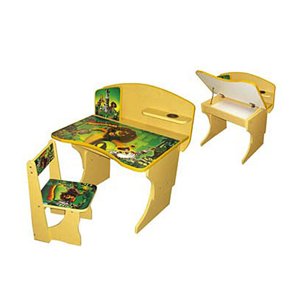 Невероятно удобная, комфортная и практичная детская парта Мадагаскар. Парта оснащена удобной столешницей под углом, подставкой для книг или тетрадей, а также подстаканником. Для хранения вспомогательных предметов, под столешницей вы найдете просторный пенал.
