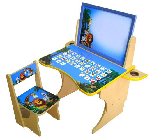 Развивающий детский набор из столики и стульчика Мадагаскар. Изготовлены стульчик и столик из качественных, безопасных материалов с защитным ламинированным покрытием.