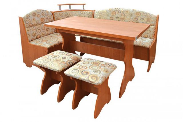 Кухонный углок Сенатор с удобным диванчиком и табуретами