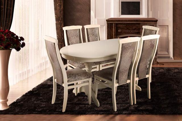 Стол раскладной Говерла, размер 1600 мм, цвет слоновая кость