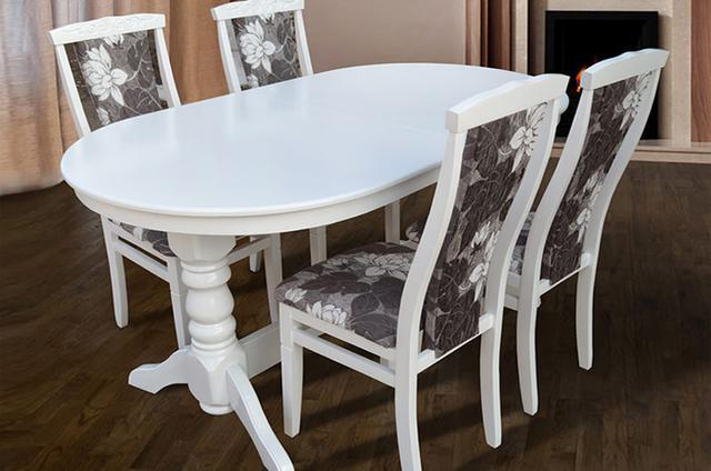 Стол раскладной Говерла, размер 1600 мм, цвет белый