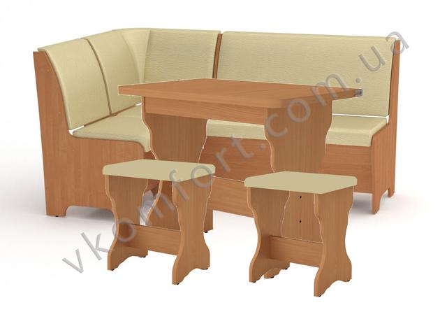 Кухонный комплект Тунис - диванчик, раскладной стол и два табурета