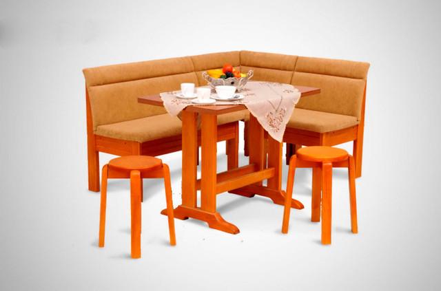 Кухонный уголок Виктор-5 со столом и двумя мягкими табуретами