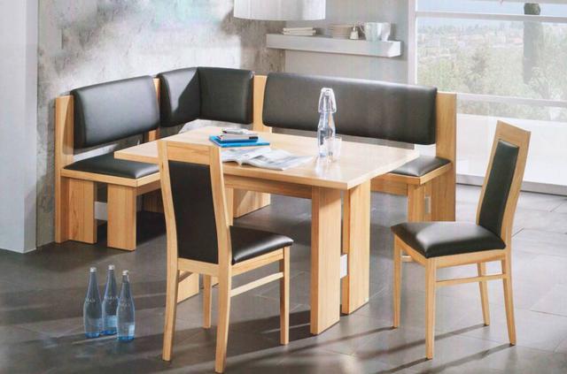 Кухонный уголок Виктор-10 со столом и двумя мягкими стульями