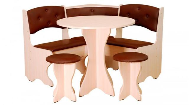 Кухонный уголок Боярин с круглым столом