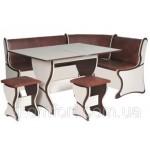 Кухонный уголок Аргентина комплект (стол КС4+диван+2 табурета Т3) (код: 10747)