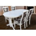 Стол обеденный раскладной Говерла (белый), 160   (код: 12242)