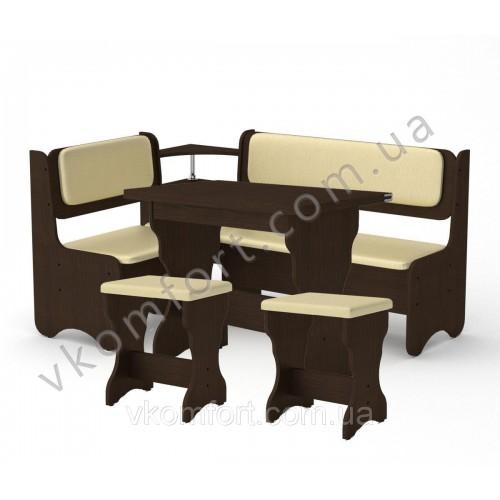 Кухонный уголок София комплект (стол КС 3 раскладной+диван+2 табурета Т1)