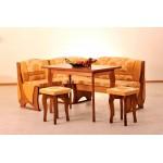 Кухонный уголок Виктор 2 комплект (стол+диван+2 табурета) (код: 12248)