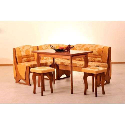 Кухонный уголок Виктор 2 комплект (стол+диван+2 табурета)