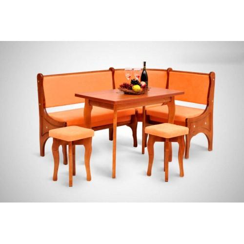Кухонный уголок Виктор 3 комплект (стол+диван+2 табурета)
