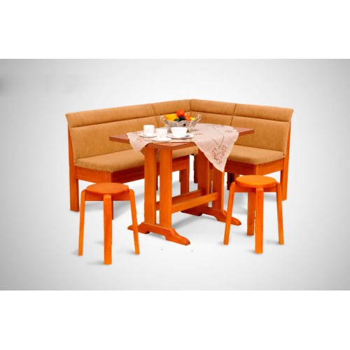 Кухонный уголок Виктор 5 комплект (стол+диван+2 табурета)