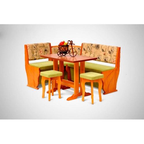 Кухонный уголок Виктор 6 комплект (стол+диван+2 табурета)