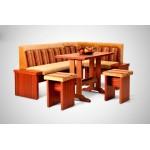 Кухонный уголок Виктор 7 комплект (стол+диван+2 табурета) (код: 12253)