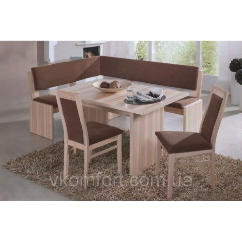 Кухонный уголок Виктор 9 комплект (стол+диван+2 стула) Ливс