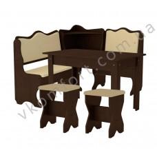 Кухонный уголок Дакар комплект (стол КС 5 раскладной+диван+2 табурета Т1)