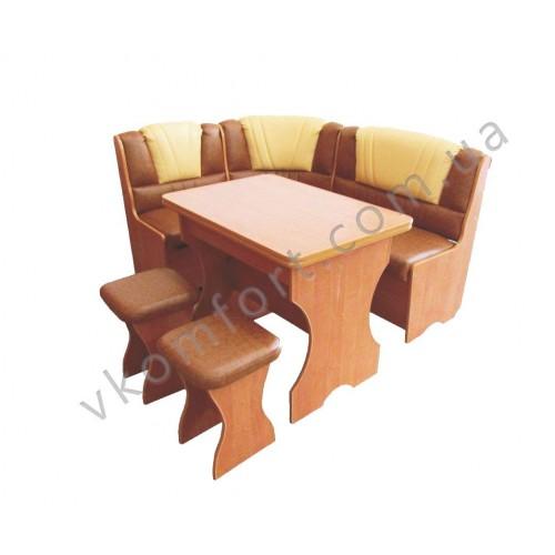 Кухонный уголок Комфорт (диван, раскладной стол, 2 табурета), Лион