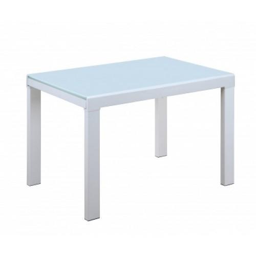 Стол стеклянный раскладной белый DEC/DF-103T