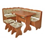 Кухонный уголок Лорд (стол+диван+2 табурета) (код: 10343)