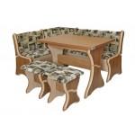 Кухонный уголок Султан (стол+диван+2 табурета)  (код: 10348)