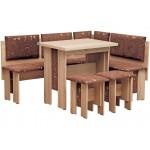 Кухонный уголок Аристократ (стол раскладной+диван+2 табурета)  (код: 10338)
