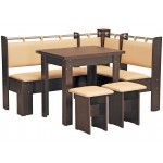 Кухонный уголок Гетьман (стол раскладной+диван+2 табурета)  (код: 10445)
