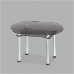 Стол обеденный стеклянный Калипсо GG/мет (код: 10736)