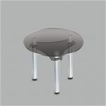 Стол обеденный стеклянный Коло GG/мет (код: 10737)