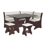 Кухонный уголок Италия комплект (стол КС 3 раскладной+диван+2 табурета Т1) (код: 10801)