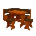 Кухонный уголок Аравия комплект (стол КС 3 раскладной+диван+2 табурета Т1) (код: 10803)