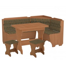 Кухонный уголок Корсика комплект (стол КС 3 раскладной+диван+2 табурета Т1)