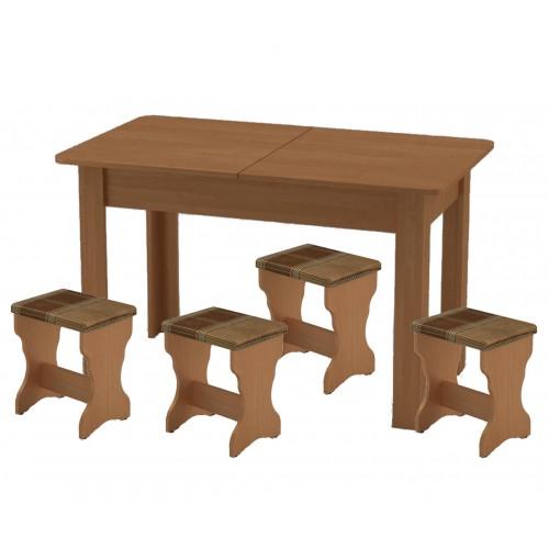 Обеденный комплект Зара (стол КС5 раскладной +4 табурета Т2)