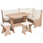 Кухонный уголок Канада комплект (стол КС 3 раскладной+диван+2 табурета Т1) (код: 10800)