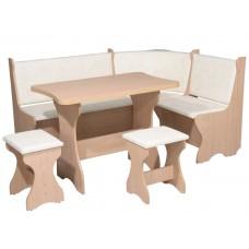 Кухонный уголок Канада комплект (стол КС 3 раскладной+диван+2 табурета Т1)