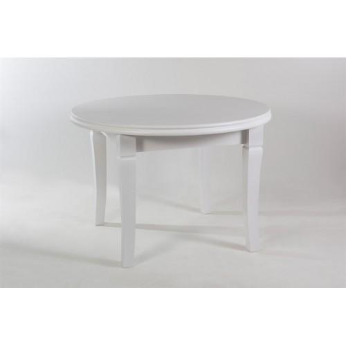 Стол обеденный раскладной круглый Лас-Вегас белый, 2,1 м
