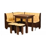 Кухонный уголок Адмирал (стол раскладной+диван+2 табурета)  (код: 11082)
