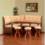 Кухонный уголок Сиеста (стол раскладной+диван+3 табурета)  (код: 11197)