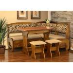 Кухонный уголок Софи 2 (стол+диван+2 табурета)  (код: 11198)