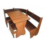 Кухонный уголок Ника комплект (стол+диван+2 табурета) (код: 12330)