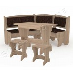 Кухонный уголок Дания комплект (стол КС3+диван+2 табурета Т1) (код: 12438)