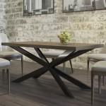 Стол обеденный Икс металлический, Металл-дизайн (код: 12297)