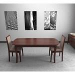 Стол обеденный раскладной (орех темный) (код: 10513)