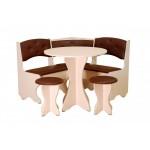 Кухонный уголок Боярин (стол+диван+2 табурета)  (код: 10337)