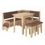 Кухонный уголок Милорд (стол+диван+2 табурета) (код: 12401)